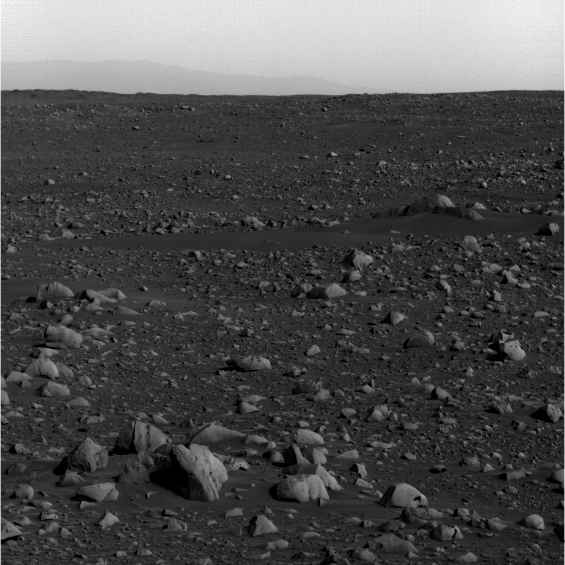 rocks and landscape from Mars Rover Spirit with pebbles ...